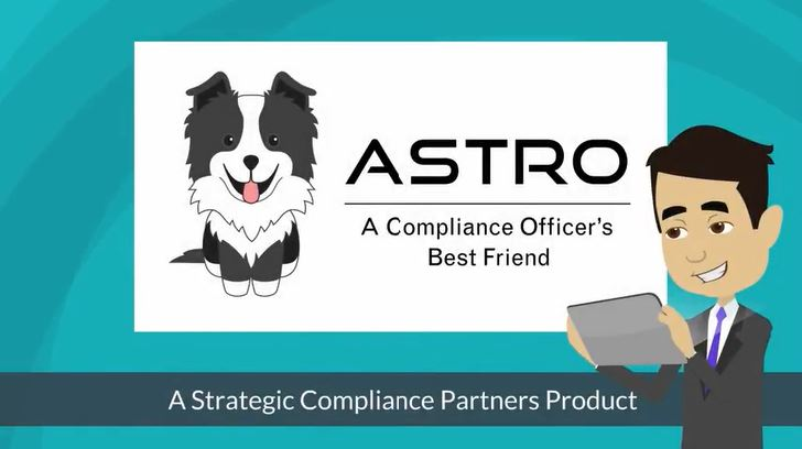 Animated graphic of ASTRO, a Strategic Compliance Partners product.